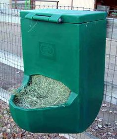 Horse feeder - all one piece of durable PVC. Totally what I'm going to install in our barn.
