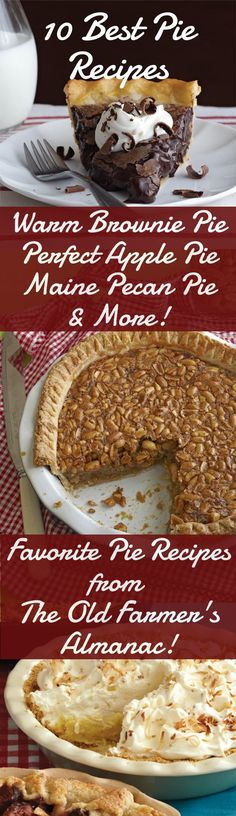 The Old Farmer's Almanac has all the time-tested, classic and uniquely delicious pie recipes you need this holiday season! Find the 10 BEST Pie recipes at Almanac.com.