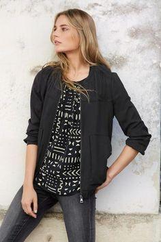 Buy Black Tencel® Bomber Jacket from the Next UK online shop