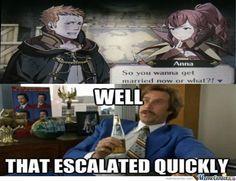 Hahaha!! That's Fire Emblem: Awakening for you!