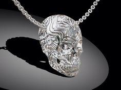 Skull pendant Ciondolo teschio Design Marco Giardini