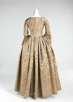 Gown with anglaise back, front center closure | American | The Met
