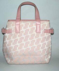 lancel sac rose tissu