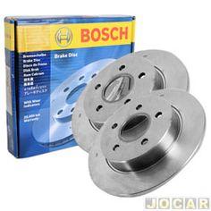 Disco de freio - Bosch - Santana/Quantum - 1984 até 1990 - Passat - 1974 até 1989 - sólido s/ cubo - dianteiro - par - DF9173