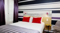 Hôtel de France Gare de Lyon Bastille Paris Situated just 300 metres from Gare de Lyon in central Paris, this air-conditioned hotel offers a 24-hour reception and ticket service. The soundproofed rooms are equipped with free Wi-Fi access.  Each guest room features a flat-screen TV and a desk.