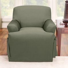 sure fit logan chair slipcover in dark green tcushion 158727269b