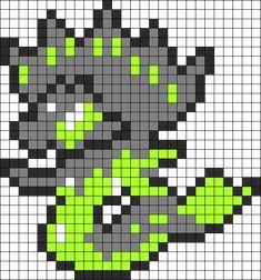 Zygarde Perler Bead Pattern / Bead Sprite