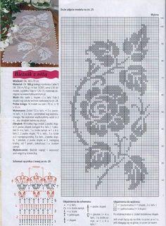 Home Decor Crochet Patterns Part 116 - Beautiful Crochet Patterns and Knitting Patterns Filet Crochet Charts, Crochet Cross, Crochet Diagram, Crochet Home, Thread Crochet, Crochet Stitches, Crochet Table Runner, Crochet Tablecloth, Crochet Doilies