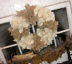Down to Earth Style: Cute Burlap Wreaths.....I love this wreath. it's in my nursery.