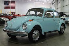 Marina Blue 1973 Volkswagen Beetle Super Beetle For Sale   MCG ...