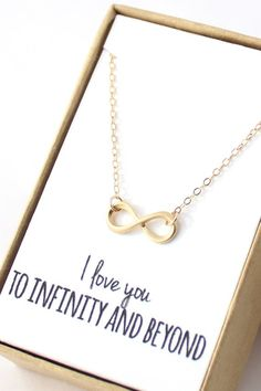 Gold Infinity Necklace 14K Gold Filled Chain
