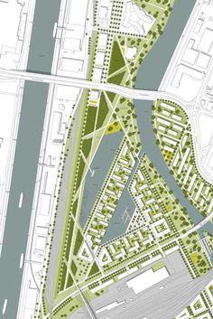 steidle architekten , t17 Landschaftsarchitekten — Masterplan Neckarvorstadt — Image 2 of 6 - Divisare by Europaconcorsi