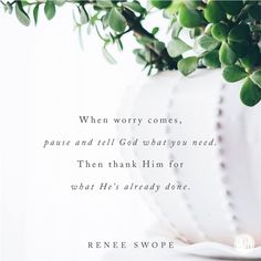 When worry comes