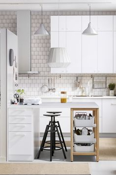 Have a small kitchen? With the right combination of IKEA SEKTION cabinets, appliances and accessories, you can get a great looking kitchen with the functions you need that works in the space you have.