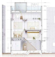 남자, 로망Я을 꿈꾸다 :: [건축디자인]일본의 땅콩주택 4탄. 4개의 큐브로 만든 땅콩집 - HOUSE T