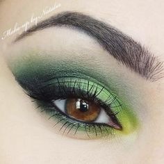 It's Springtime! Why not try a citrusy lemon lime eye look on your brown eyes?