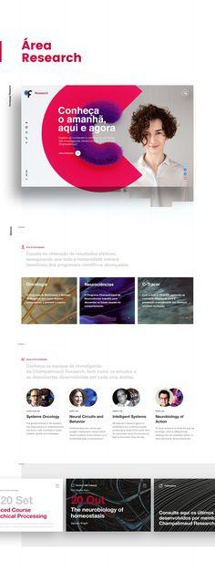 Proposta para criação do novo website da Fundação Champalimaud.