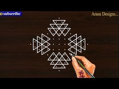 Easy Rangoli Designs Diwali, Simple Rangoli Designs Images, Free Hand Rangoli Design, Small Rangoli, Rangoli Designs With Dots, Rangoli With Dots, Rangoli Borders, Rangoli Border Designs, Special Rangoli