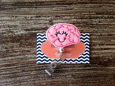 Brain Badge Holder Neurologist Neurology by HBSouthernInspired