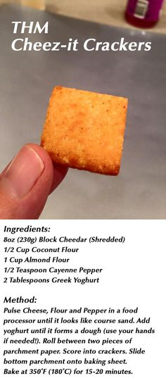 Cheez-it Crackers.... I love the ones from the store and now!!!! Healthy ones!!! Oh yeah!!! Making these this weekend!!!