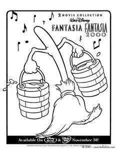Fantasia MAGIC BROOM Coloring Page