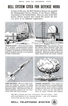 The involvement of Bell Telephone Cold War Defense initiatives