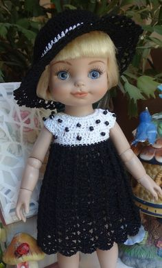 Crochet Set for Tonner Half Pint Doll 10 by dollcrochetboutique