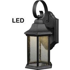 1 LED Outdoor Wall Lantern Textured Black Finish with Seedy Glass Lantern Light Fixture, Light Fixtures, Led Outdoor Lighting Fixtures, Outdoor Wall Lantern, Farmhouse Lighting, Home Hardware, Sconces, Wall Lights, Glass