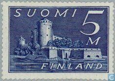 Timbres-poste - Finlande - 500 bleu