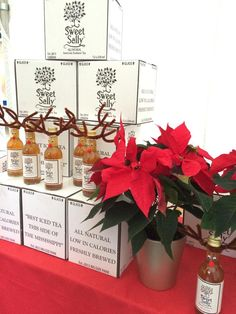 2014 #Hampstead #Christmas Festival was great and our #reindeerbottles were a huge hit for Sweet Sally Tea! #southernicedtea #London #startup #bottledecor