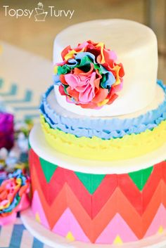 cinco-de-mayo-cake-fondant by Ashlee @ imtopsyturvy, via Flickr