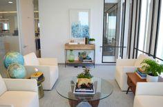 Rosebud & Penny: Mid-Century Modern Office Lounge Makeover