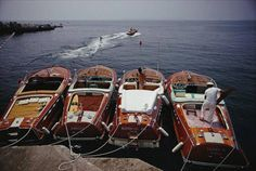 Slim Aarons, Waterskiing from the Hotel Du Cap-Eden-Roc in Cap d'Antibes, France, 1969 ...Gorgeous Boats