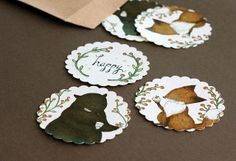 Those Perfect Berry Cupcakes Stickers/Seals Set of 18 by Yee Von Chan, via Flickr