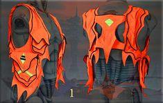 Want =) Md Orange - Lemurian apocalyptic cyber goth UV reactive by CyberGypsyFashion, $139.00