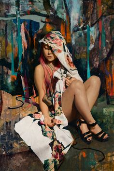 Soey Milk is an American and Korean painter, based in Los Angeles. She paints sensual and delicate portraits of Korean young women ; Comics Illustration, Illustrations, Figure Painting, Painting & Drawing, Milk Art, The Quiet Ones, Oriental, Hyperrealism, Korean Artist