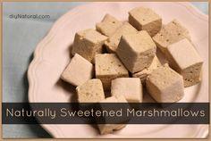 Homemade Marshmallows - naturally sweetened