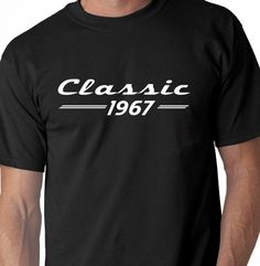 50th Birthday Shirt. Classic 1967 Mens T-Shirt  This T-shirt makes a great birthday gift for the big 50! We also offer the vintage aged to perfection mens tee shirts for the celebrating those big milestone years: 30, 40, 50 & 60. For men we silk screen on Gildan Softstyle & Fruit of the Loom Softspun tee shirts - so comfortable and stylish. We use ECO friendly ink on all of our mens t-shirts.  Each tee shirt is designed and hand screen printed by me in sunny Florida.  ++++++++++++++++...