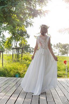 Hochzeit Kleid Böhmisches Wedding Gown Boho von SuzannaMDesigns