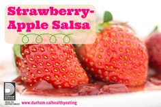 Try this sweet take on salsa with this strawberry apple salsa recipe! #summersnack #strawberries