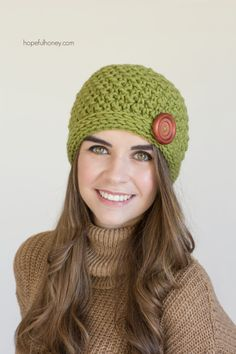 CROCHET PATTERN  Spiced Pear Beanie by HopefulHoneyDesigns on Etsy
