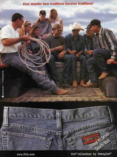 Lee and Wranger, famous denim Brand in 1990s