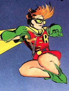 Carrie Kelly-The Third Robin. 13 year old schoolgirl, Carrie Kelly was being mugged one night while Batman saved her. After that, she spent all her money on a Robin costume and assisted Batman. She was later the superhero Catgirl. She then became Damian Wayne's tutor before he was killed by The Heretic. She is good at hand-to-hand combat and first aid.