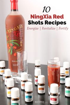 10 NingXia Red Shots Recipes Using Vitality Essential Oils - Recipes with Essential Oils
