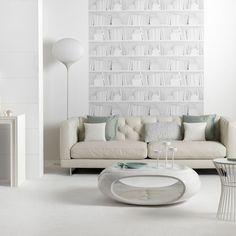 Zeitgenössische weiß Wohnzimmer Wohnideen Living Ideas Interiors Decoration
