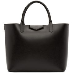 Givenchy Black Large Antigona Shopping Tote (£815) ❤ liked on Polyvore featuring bags, handbags, tote bags, purses, black, сумки, handbags tote bags, woven-leather handbags, tote handbags and handbags totes