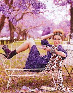 Purple Reign: ru_glamour — LiveJournal Only Fashion, Fashion Shoot, Editorial Fashion, High Fashion, Men's Fashion, Marie Claire Australia, Purple Reign, All Things Purple, Photo Checks