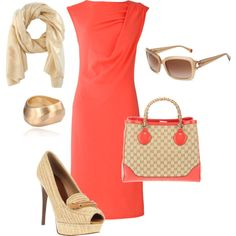 A fashion look from June 2012 featuring People Tree dresses, Burberry shoes and Gucci tote bags. Browse and shop related looks.