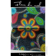 """Fleur du mal/Flowers of pain""  #ArtbyGnoom #GnoomsweetGnoom #Colouring #Kvv #Flowers #Rainbow #SarahBrightman"