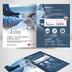 Create ad for trade show guide We create cloud-based HR software for large global businesses. Advertising Design, Advertising Campaign, Ads, Flyer And Poster Design, Custom Postcards, Global Business, Cloud Based, Trade Show, Business Card Design